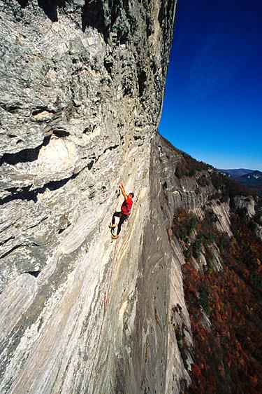3. Rock climbing at Whiteside Mountain.