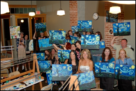 7) Learn to paint, while drinking wine.