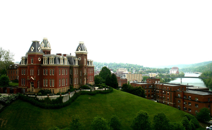 14. This beautiful view of the campus of West Virginia University and the Monongahela river in Morgantown.