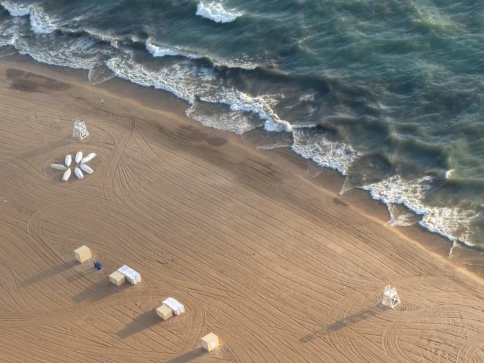 4. Chilled on a Lake Michigan beach