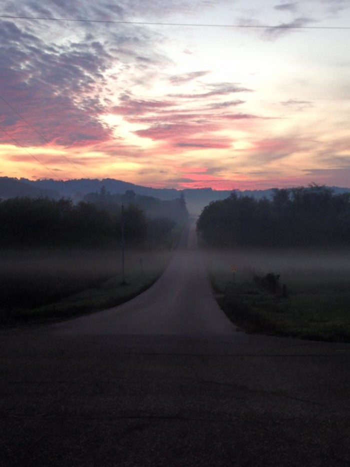 1. What a classic, Wisconsin morning shot that Tabatha caught in Sauk County.