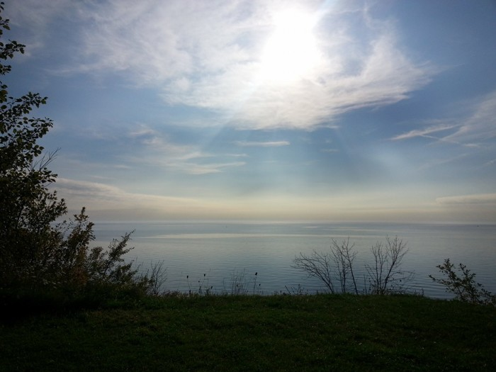 3. Abby, who took this photo off of a bluff in Port Washington, said it reminded her of heaven.