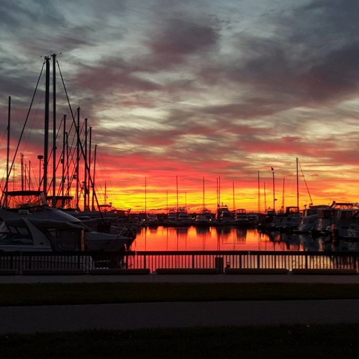 5. This shot of the Southport Marina in Kenosha really captures the beauty of boat life in Wisconsin.