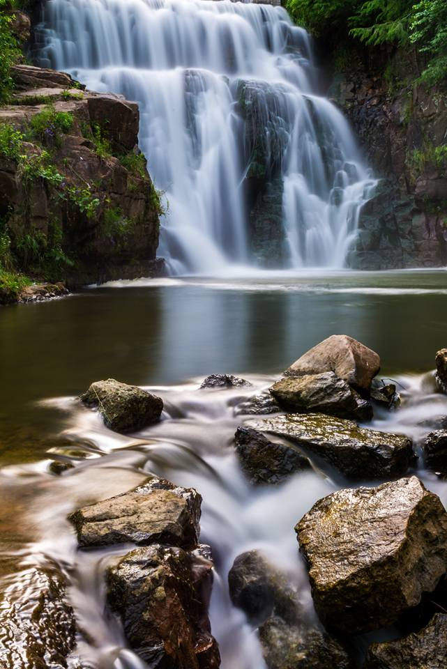 7. Jeff Lind took this beautiful shot of Redstone Falls in La Valle.