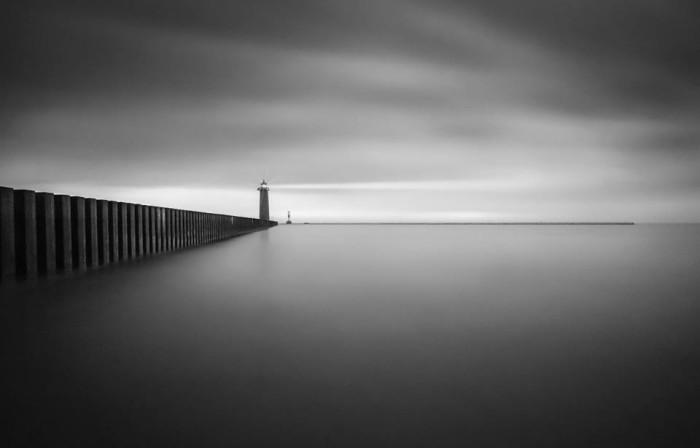 14. This black and white shot of the lighthouse in Kenosha is simple but very awesome.