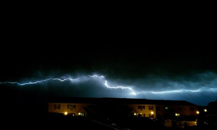 18. Dan caught this really cool shot of lighting in South Milwaukee.