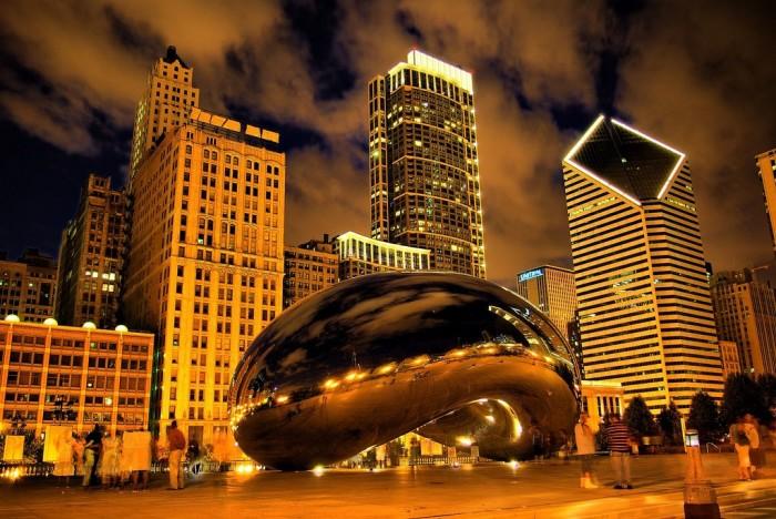5. The Bean, at night