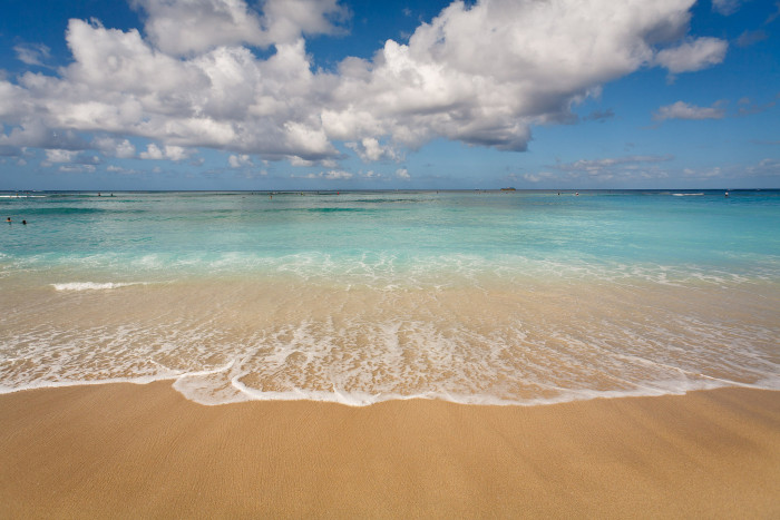 1) People from Hawaii struggle to decide which beach to visit.