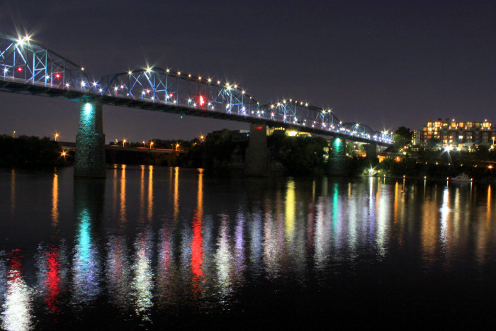 1) Here's the Walnut Street Bridge, looking awesome.