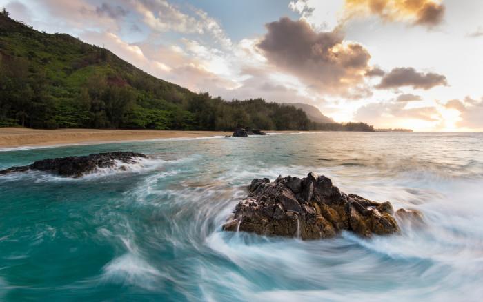 1) Lumaha'i Beach