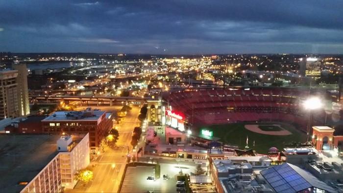 1. A great shot taken from top of the Hilton Hotel at Ballpark Village.  Taken by Cheri Messerli.