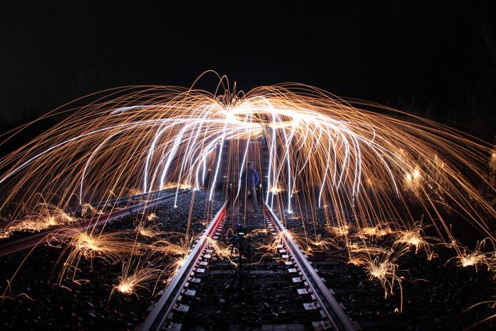 1. Under the train tracks, St. Louis