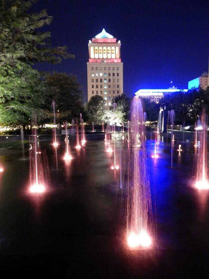 1. John Christeson Jr. shot this incredible view of St. Louis' City Garden at night.