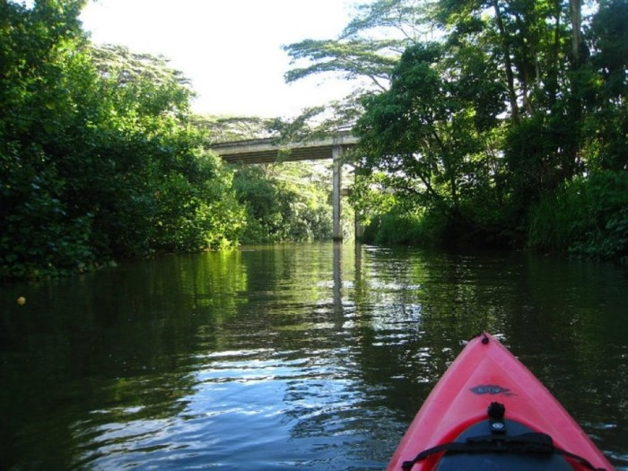 10) Kauai's Kalihiwai River is rather short, making it the perfect kayaking adventure for those who don't want to be paddling all day. The trip takes approximately an hour.