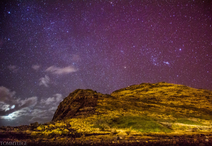 10) The stars over Makupu'u are absolutely marvelous.