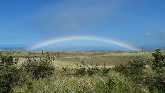 10) Rainbows are perhaps one of the more magnificent aspects of Hawaii life - and this rainbow over Waimea proves just that.