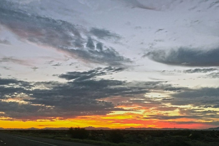 5. Michelle of Maricopa captured this sunrise in her hometown. Such a pretty sight!