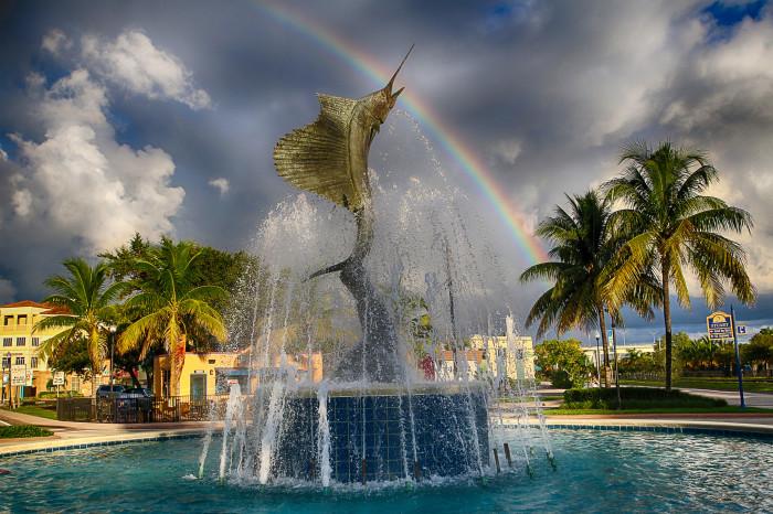 14. Sailfish Fountain, Stuart