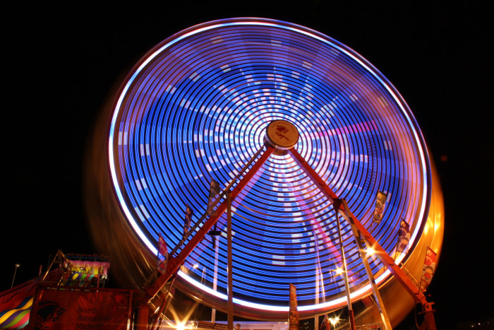 9. Bright lights at night captured brilliantly.