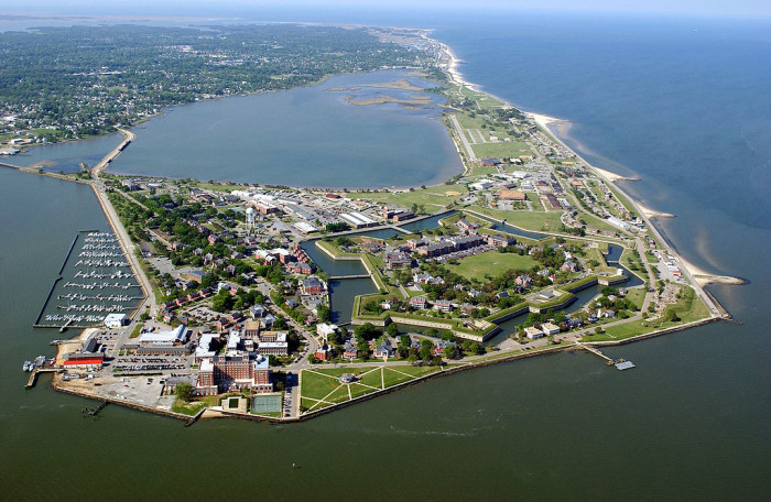 11. Fort Monroe in Hampton is the largest stone fort ever built in America. The fort, which is surrounded by a moat, was a Union stronghold during the Civil War, when it became the site of the first free, self-contained African American Community.