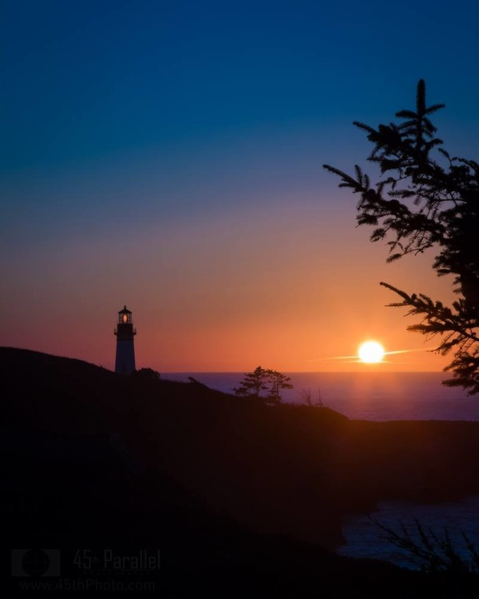 9) Twilight at Yaquina Head shot by George Shubin.