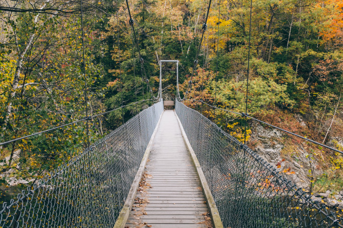 29) And this suspension bridge over Lamoille River at Ithiel Falls on the Long Trail.