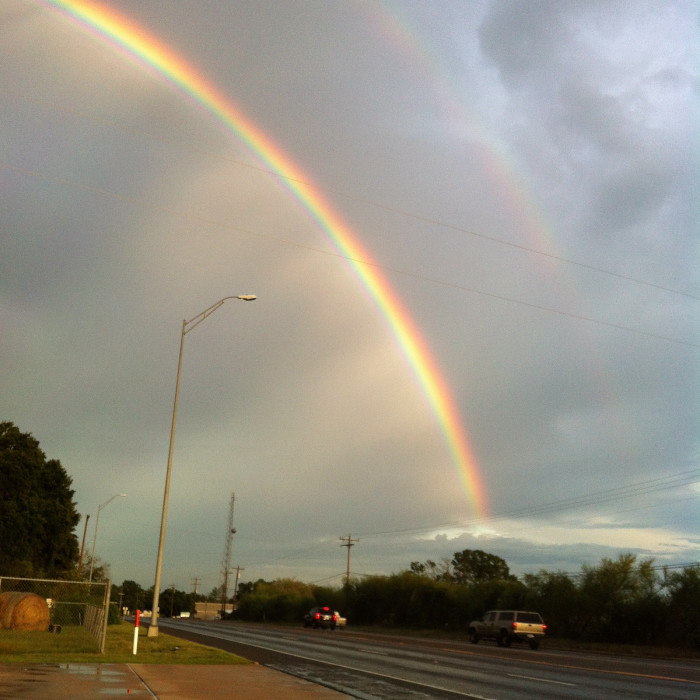 8) Awesome double rainbow captured in Berlin, TX!