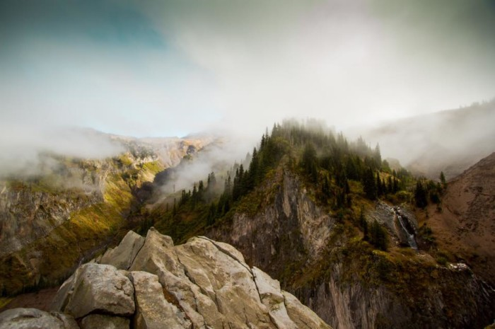 9) A misty mountaintop, photographed by Thomas Kamrath.