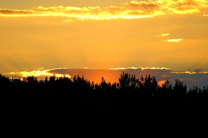 10. A stunning Mississippi sunset, shot by Becky Culpepper Syfrett, lights up the entire sky.