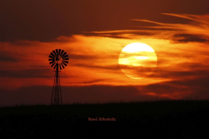 2. WOW, is this sunset near North Platte impressive!