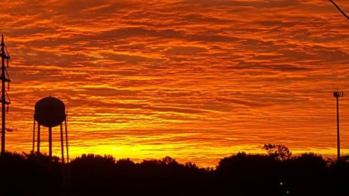 2. Mandy Moeller snapped a photo of this gorgeous, glowing sky in Sheldon.