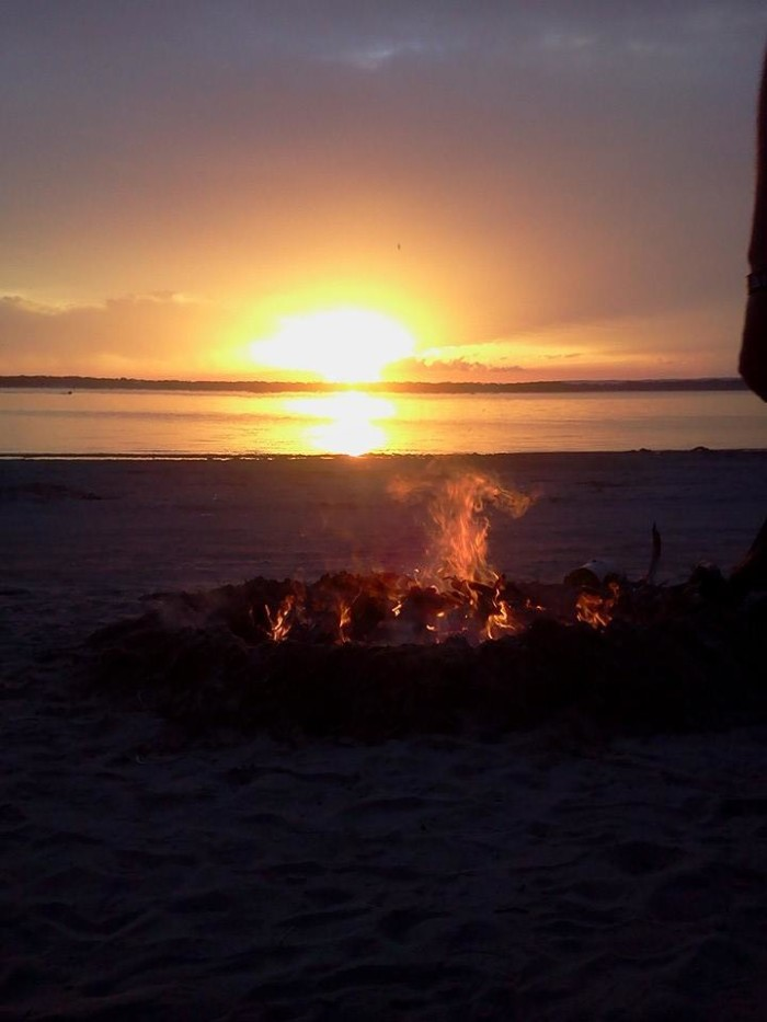 11. This campfire at Lake Minatare is no match for the beautiful sunset behind it.