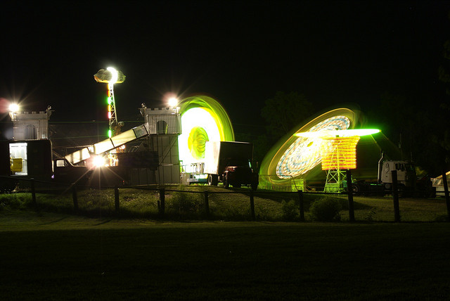 11. The attractions at the Dunmore Carnival look like alien spaceships.