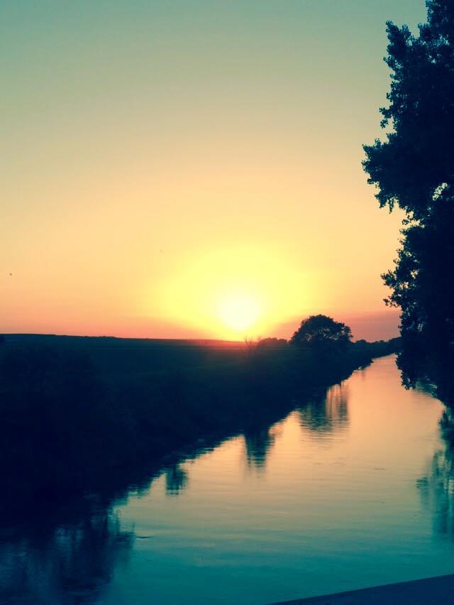 23. Such a soft, calming sunset scene over Logan Creek in Bancroft.