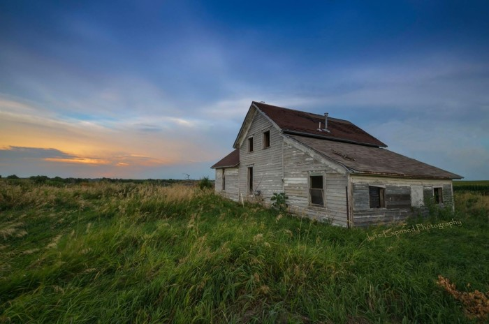 """5. The photographer says of this picture, """"Once a prairie home."""" We can only imagine the stories it could tell."""