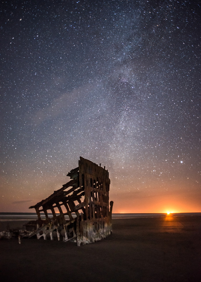 4) Peter Iredale by starlight.