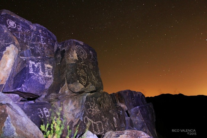 18. And, finally, Rico sent us this night photo of Signal Hill (aka, Picture Rocks) at Saguaro National Monument.