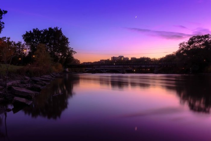 11. Adam Delaney captured this stunning shot of downtown Iowa City.
