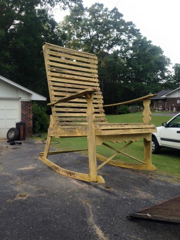 3) Large Rocking Chair, Ruston