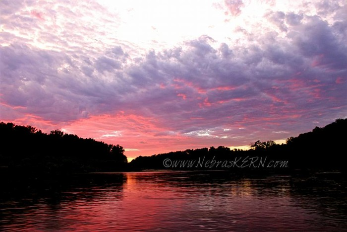 8. Just look how the pink of the sunset outlines those clouds - spectacular!