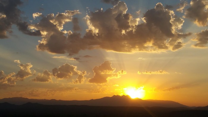 1. Martin caught this image of sunrise at the We-Ko-Pa golf course in Fountain Hills. Nice!