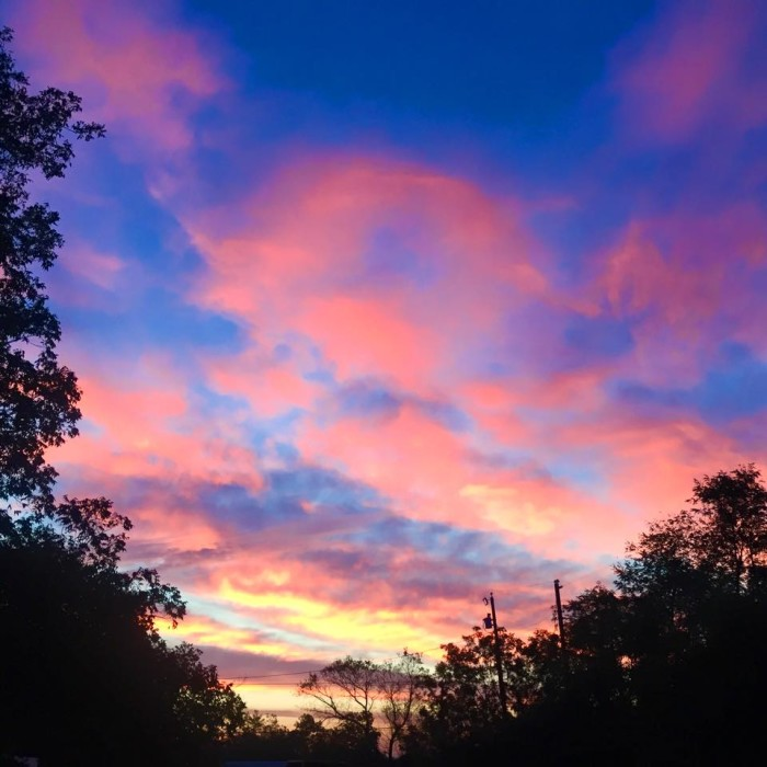 2) A cotton candy sunrise taken by Carrie Snyder in Flint, TX.