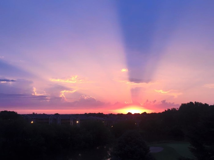 12. These rays shooting out across the sky look like beacons calling for everyone to look up.