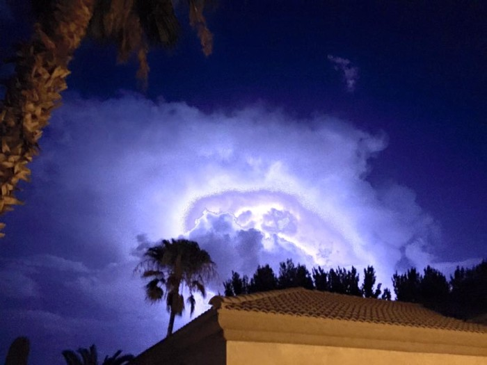 9. Speaking of rain water, did you get any precipitation at your home this week? Sherri sent us this photo of the lightning in San Tan Valley.