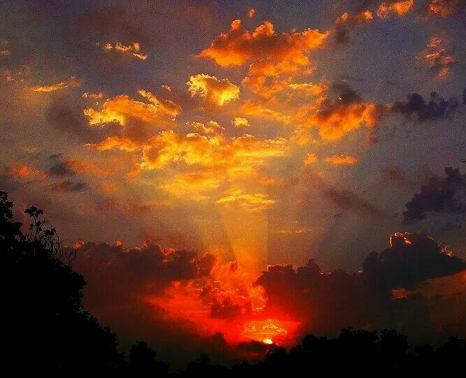 13) Kenneth Wright captures this sunrise that illuminates the skies in Shiner, TX.