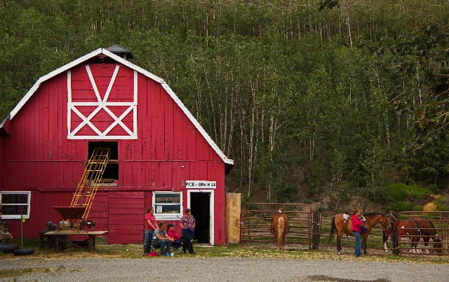 6) There is just something about a red barn... near Palmer, AK.