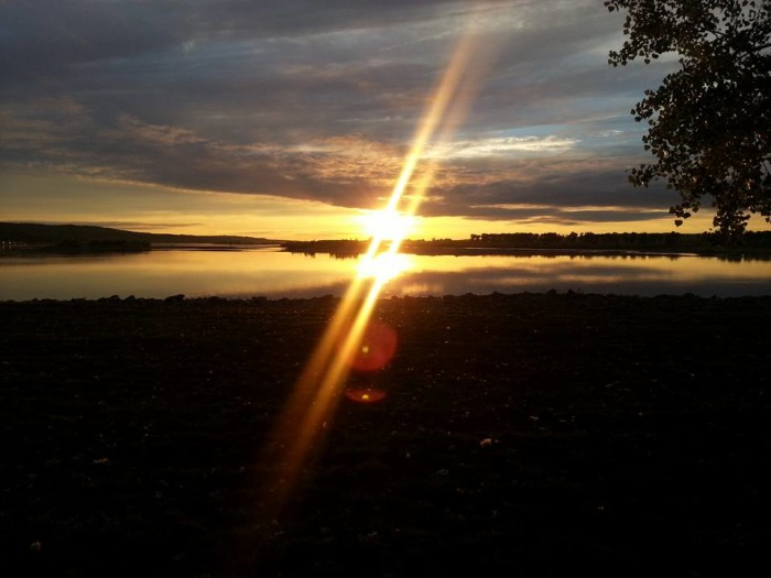 17. What a gorgeous double sun flare over the Missouri River near Verdel.