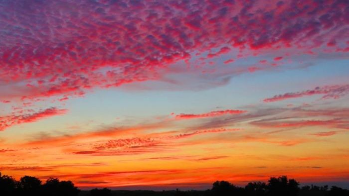 3. Kelly Gerke snapped a picture of this gorgeous, painted sky north of Saint Anthony.