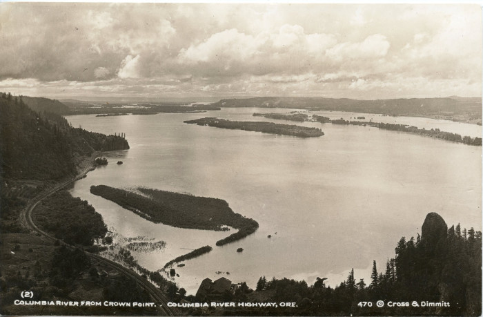 Columbia River from Crown Point, 1916. The view is still beautiful.