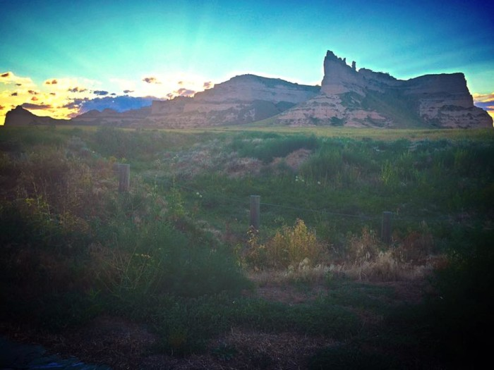 15. No matter what angle you see them from, the bluffs in western Nebraska are always incredible.